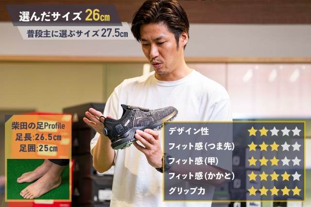 フットジョイ「ハイパーフレックスボア」GDO柴田の評価