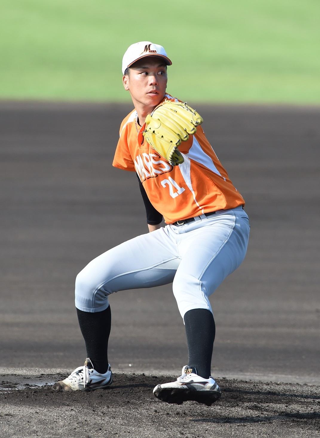 東北マークスの先発は、2018年までNTT西日本に在籍した李 基成が務めた。
