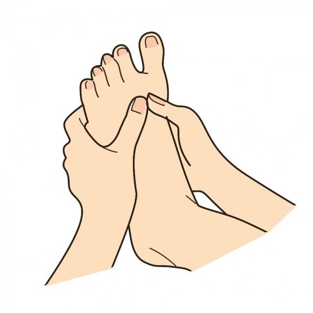 足裏と甲のストレッチ