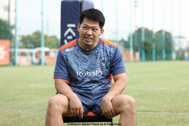 後藤満久。大阪府出身、2008年入団の36歳。関西創価高校→京都産業大学→クボタスピアーズ。主にフッカーとして活躍し、クボタスピアーズ公式戦出場数66試合、トップリーグ公式戦出場数47試合。