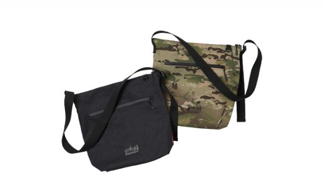 ▲「Wyckoff Shoulder Bag X-Pac MP1483XPAC」¥18,150(税込) カラー:左 Black, 右 Camo サイズ:W40(Bottom28)×H35×D12.5cm