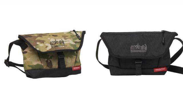 ▲「Cypress Messenger Bag X-Pac MP1695XPAC」¥13,750(税込) カラー:左 Camo, 右 Black サイズ:W28(Bottom20)×H17×D8cm