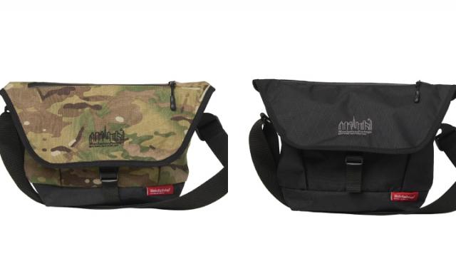 ▲「Casual Messenger Bag JR X-Pac MP1605JRXPAC」¥15,950(税込) カラー:左 Camo, 右 Black サイズ:W36(Bottom22)×H22×D15cm