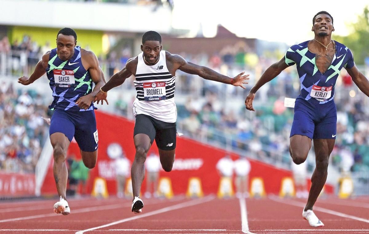 五輪選考会も無事全日程を終え、いよいよ「絶対王者」アメリカチームが日本にやってくる(写真は男子100メートル決勝)
