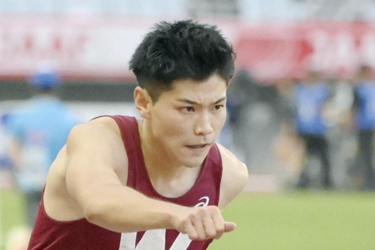 2021年6月の陸上日本選手権で力走する山内選手