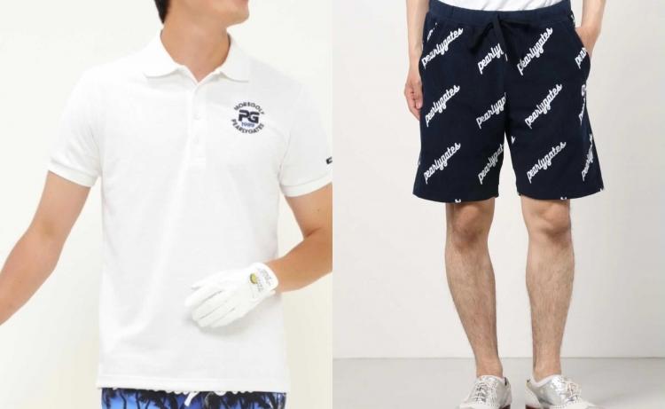 [左]シンプルなロゴ入りのポロシャツは、どんなデザインのパンツとも合わせやすくヘビロテ間違いなし! [右]吸水速乾性に優れた素材で、夏の汗ばむ季節もベタつきのない軽快なはき心地。