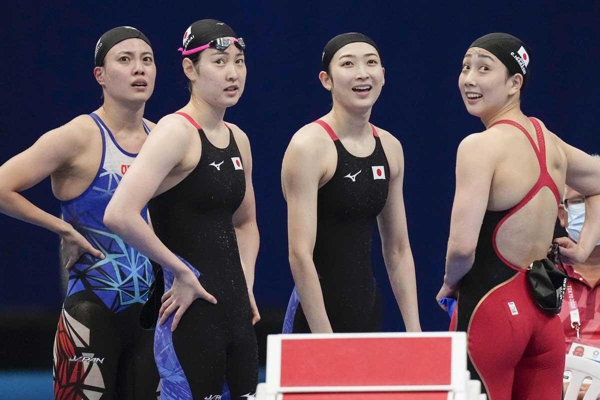 女子400メートルリレーは「3分36秒20」のタイムで全体9位に。決勝進出ならず。それでも池江璃花子(右から2人目)の五輪出場には大きな意味がある