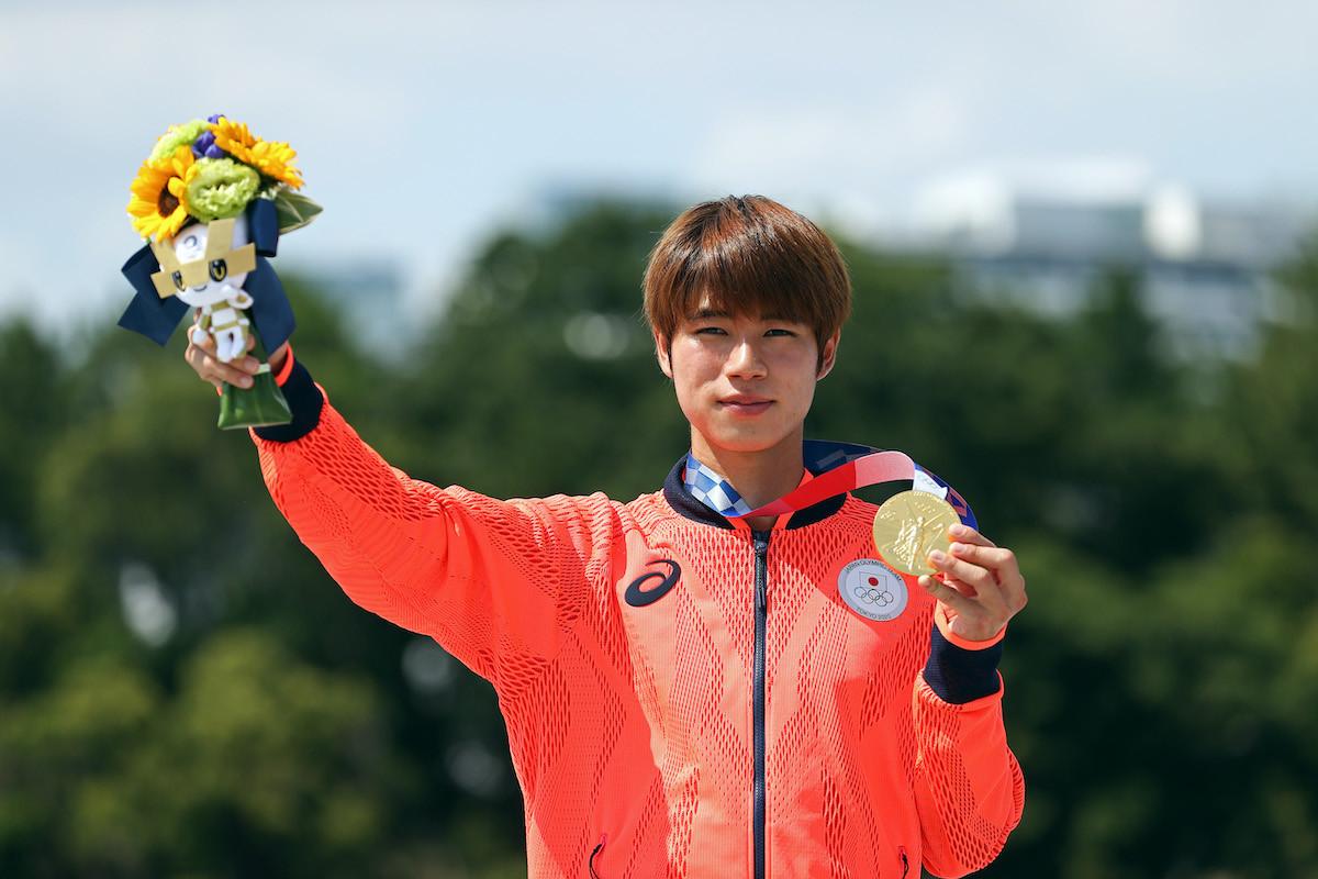 新種目スケートボード・ストリート男子で金メダルを獲得した堀米雄斗