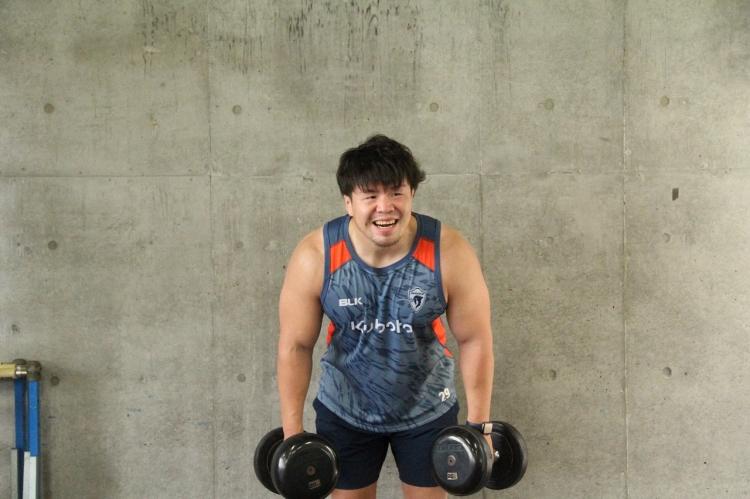 トレーニングを終えると出社した千葉選手。トレーニング中は常に楽しそうだった