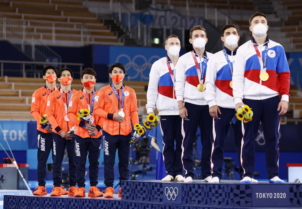 体操男子団体は持てる力のすべてを出し切るも、0.103点およばず惜しくも銀メダルに
