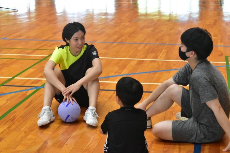 参加者からの質問に答える鎌田咲希選手