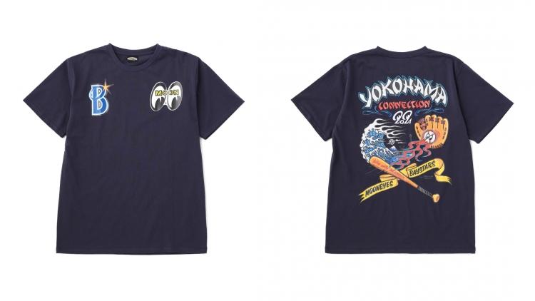 """横浜DeNAベイスターズxMOONEYES""""Tシャツ"""""""
