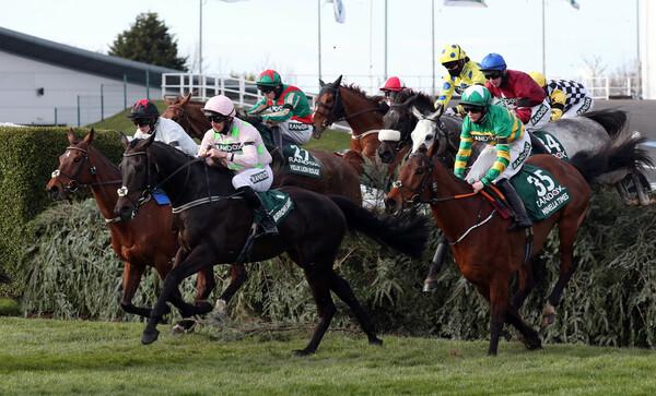 新潟ジャンプステークスを制するのはどの馬か、競馬予想AIの本命に注目(写真は2021年英国グランドナショナル)