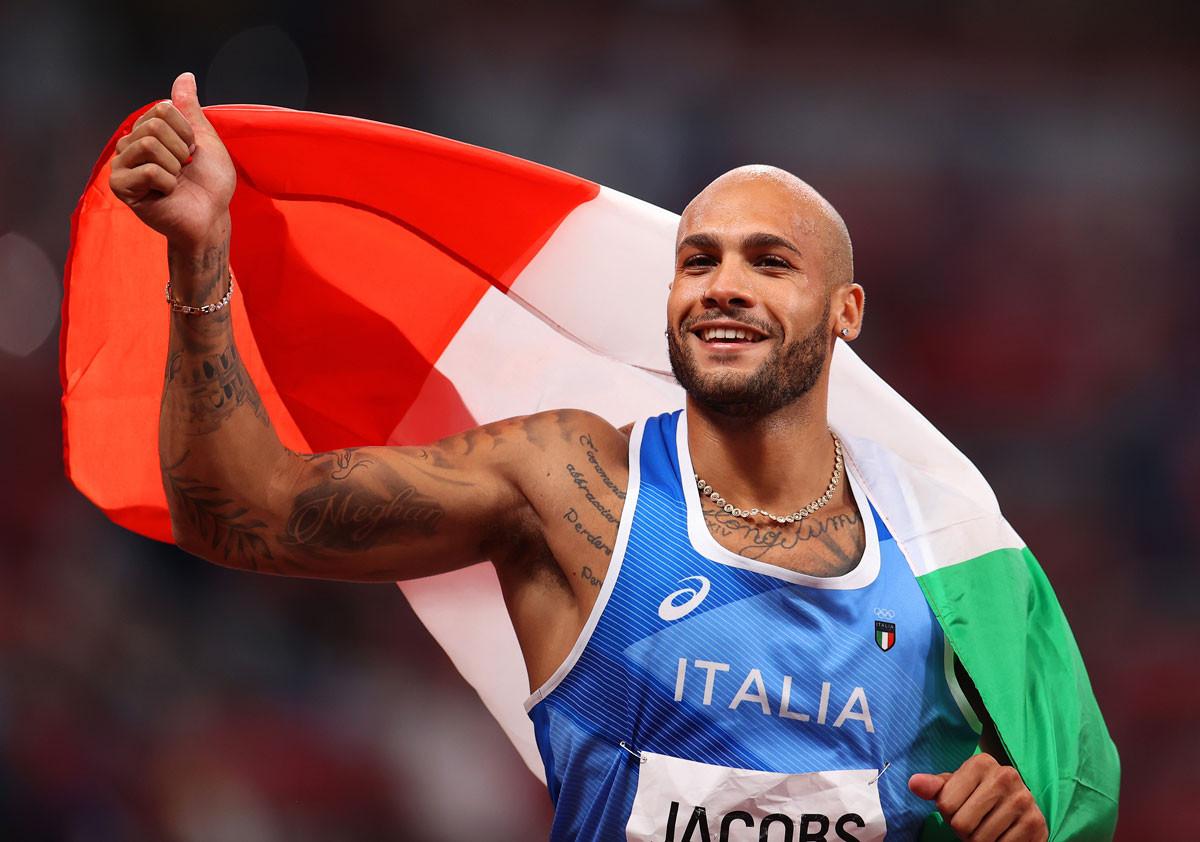陸上男子100メートルで金メダルを獲得したヤコブス。今大会で自己ベストを3度更新し、「最速の男」となった
