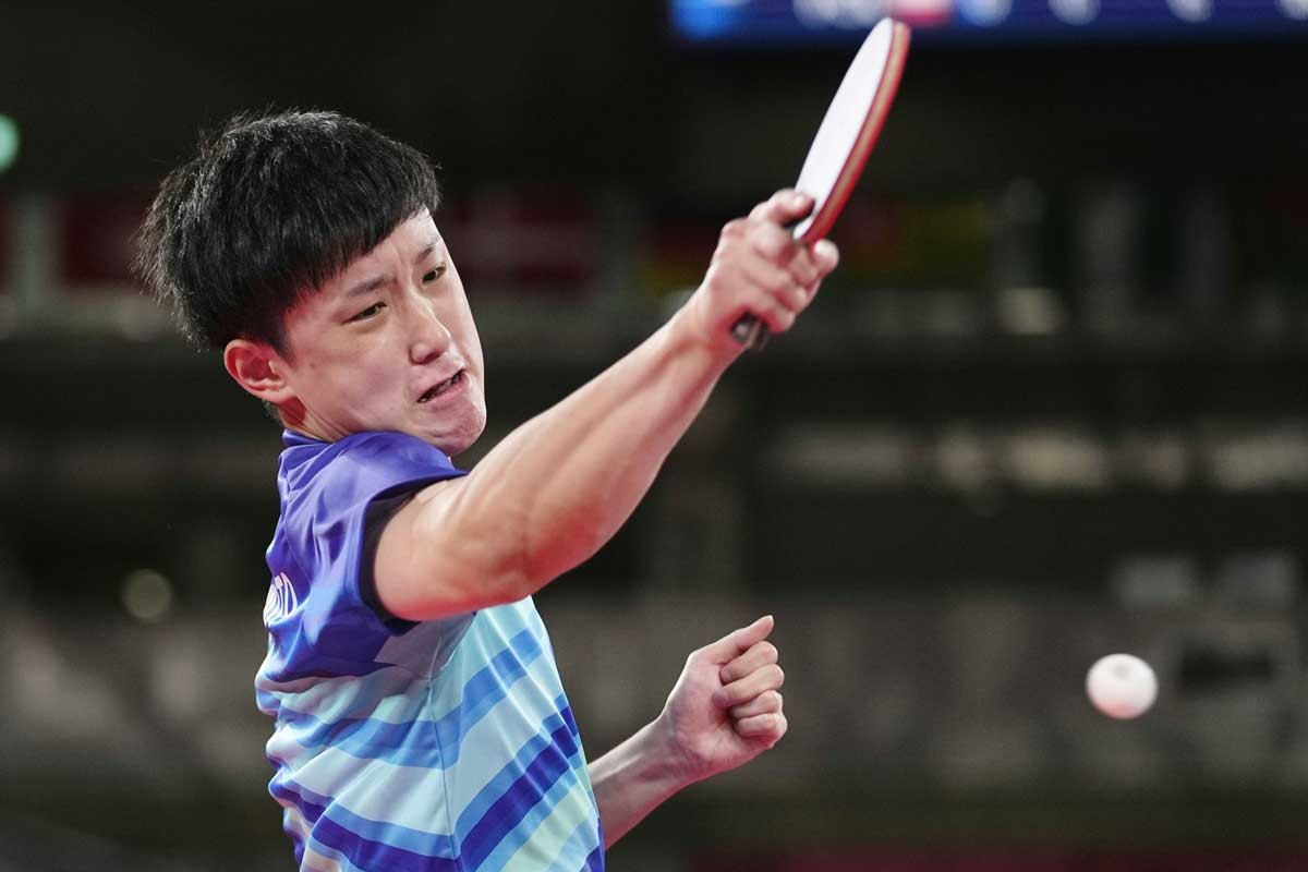 卓球男子団体の運命はエース張本智和に懸かっている。相手に向かう気持ちでプレーしたい