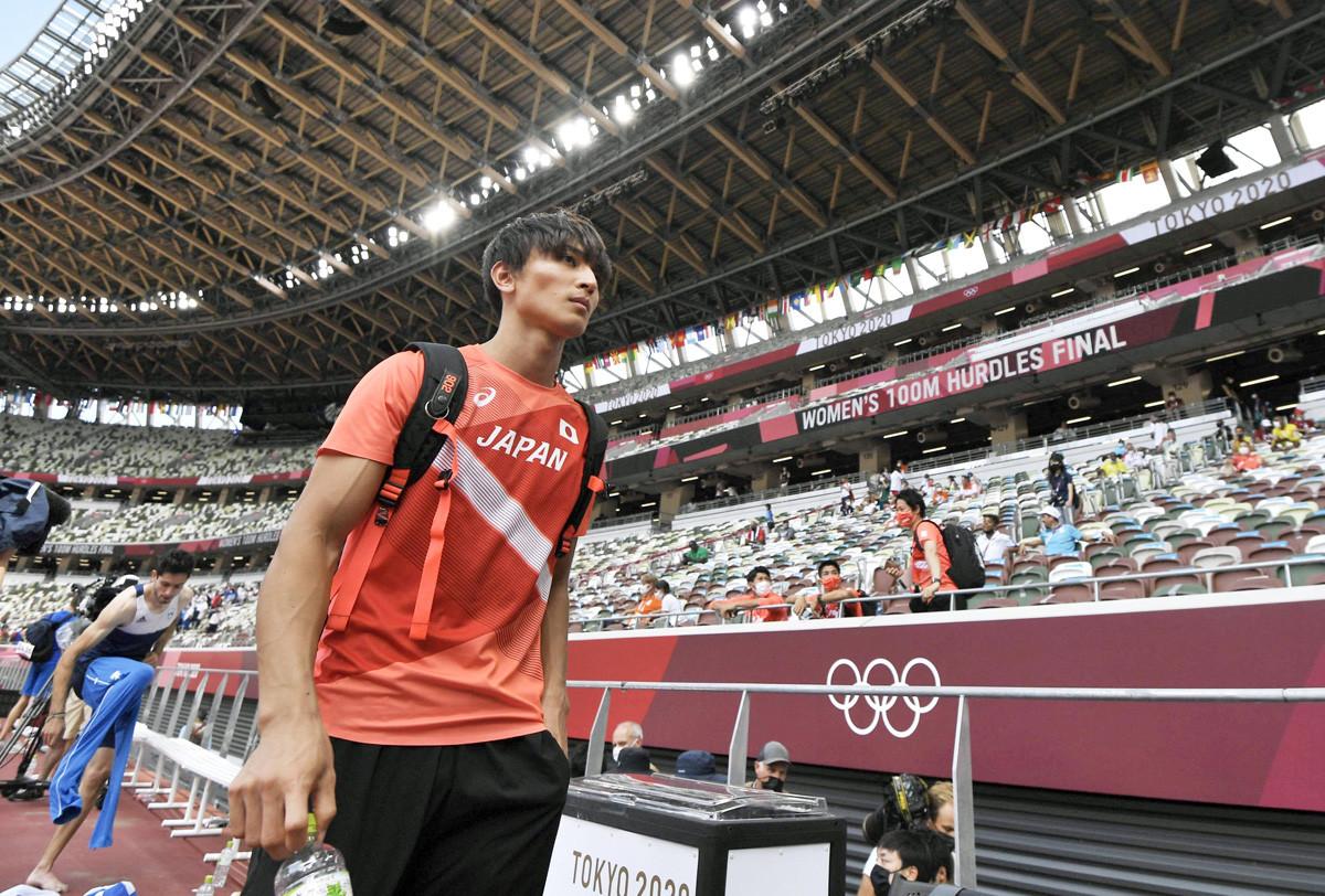 今後は海外を拠点にすると話をした橋岡。すでに見据えるのは3年後のパリで金メダルだ