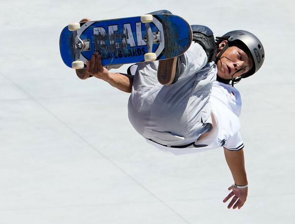冬季五輪スノーボードハーフパイプで2大会連続銀メダルの平野歩夢が、夏季五輪の新種目スケートボードパークに挑んだ