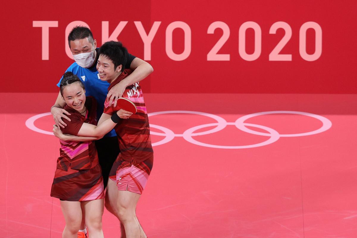 混合ダブルスで中国を破り金メダルに輝くと、「ありえねえ!」と田勢コーチと言い合ったという