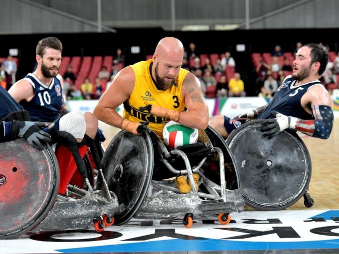 今大会を集大成と位置づけるオーストラリアのライリー・バット(写真は車いすラグビーワールドチャレンジ2019)