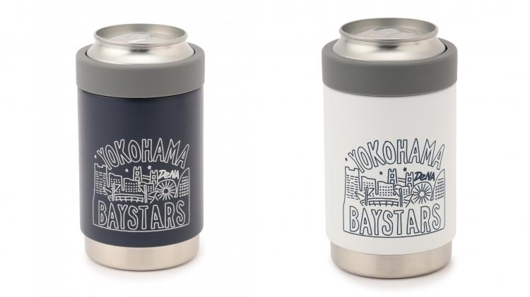 保冷缶ホルダー YOKOHAMAランドスケープ ネイビー/ホワイト