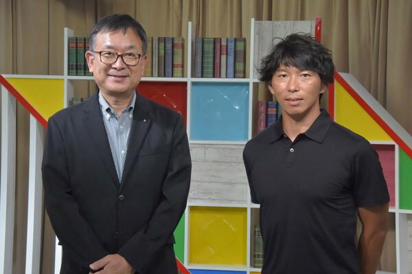9月1日に発表された「ヤフー防災模試 ソナエルJapan杯」。報道向けの発表会後、村井満チェアマンと佐藤寿人氏に話を聞いた