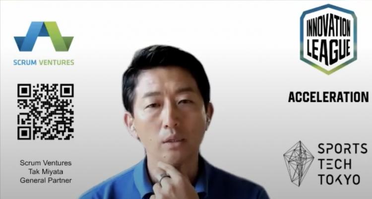 スポーツ市場の可能性、オープンイノベーションの課題意識と意義について宮田氏よりお話いただいた。