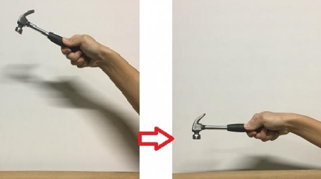 釘を打つときこんな風に打つ人はあまりいないですよね。